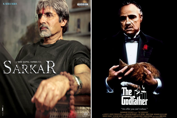Sarkar (2005) and The Godfather (1972) Movie Poster