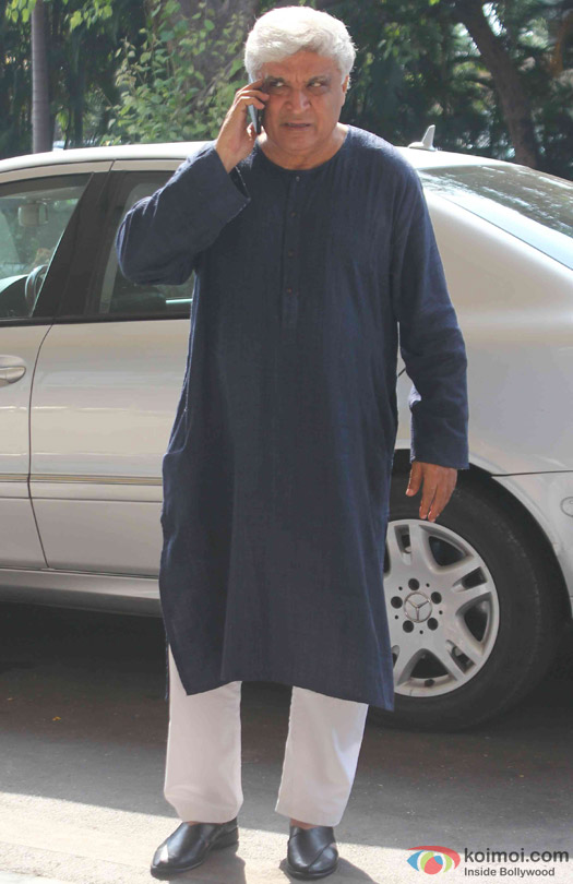 Javed Akhtar Spotted At Domestic Airport