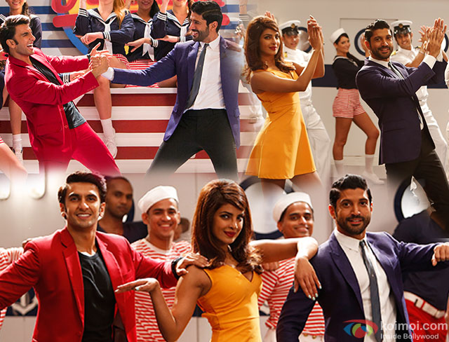 Ranveer Singh, Priyanka Chopra and Farhan Akhtar in a 'Dil Dhadakne Do Title Song' still from movie 'Dil Dhadakne Do'