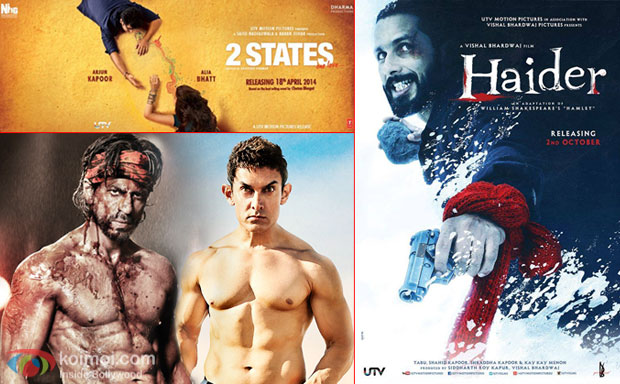 2 State, Haider movie posters and Shah Rukh Khan, Aamir Khan