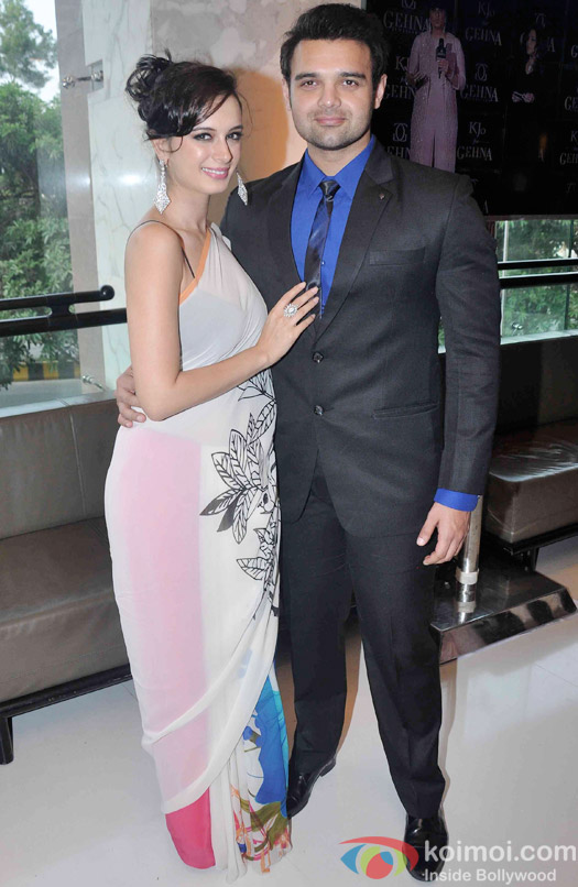 Evelyn Sharma And Mahaakshay Chakraborty During The Launch Of Karan Johar's Limited Edition Holiday Line For Gehna Jewellers