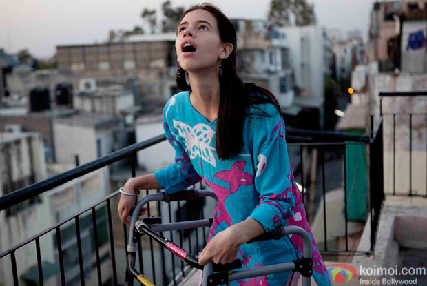 Kalki Koechlin in a still from movie 'Margarita, with a Straw'