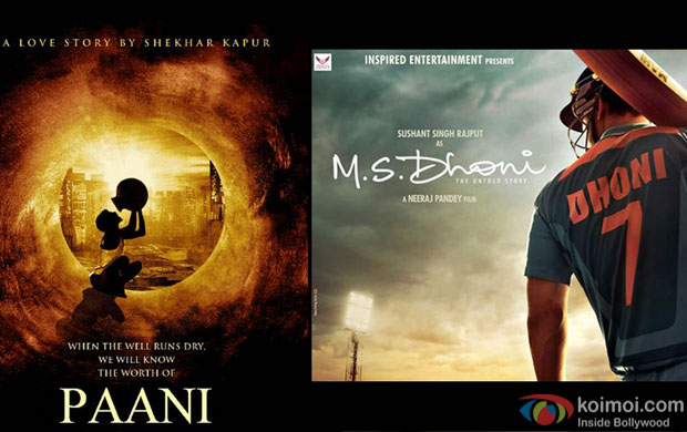 Paani and M S Dhoni Movie Posters