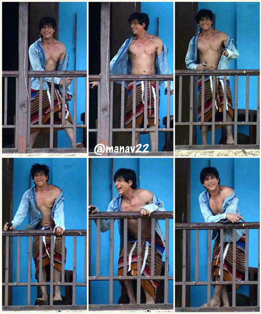 On The Sets Of FAN: Catch Shah Rukh Khan Clad In Towel & Unbuttoned Shirt