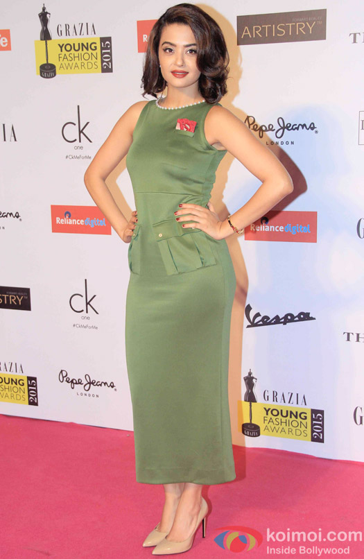 Surveen Chawla Snapped At Grazia Young Fashion Awards