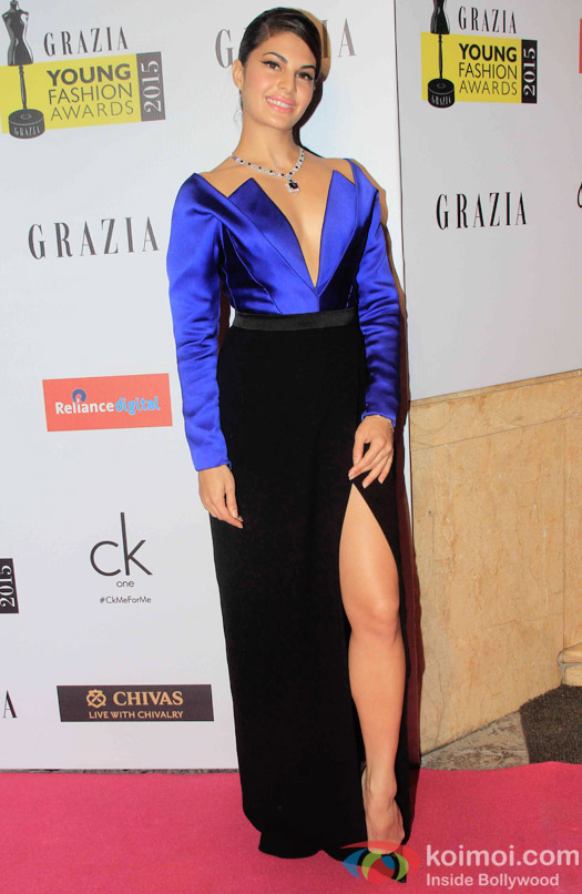 Jacqueline Fernandez Snapped At Grazia Young Fashion Awards