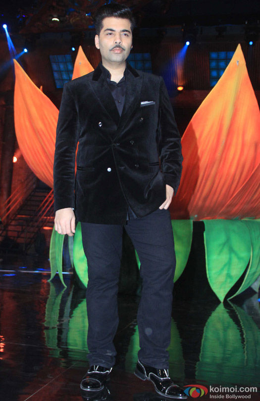 Karan Johar during the promotion of movie 'Bombay Velvet' on the sets of 'India's Got Talent 2015'
