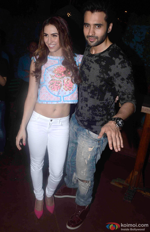 Lauren Gottlieb and Jackky Bhagnani during the promotion of movie 'Welcome To Karachi'