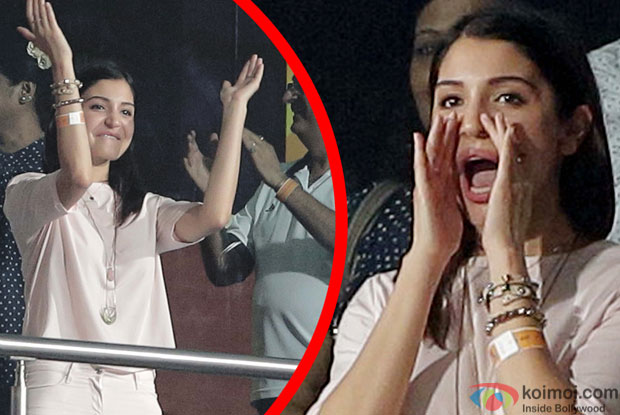 RCB Vs KKR 2015 IPL Match : Anushka Sharma Cheers For BF Virat Kohli