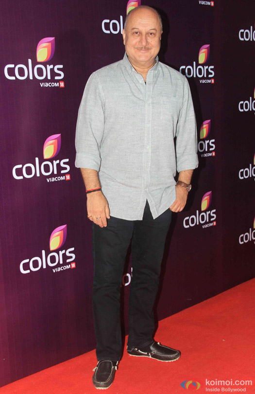 Anupam Kher during the red carpet of Colors Party 2015