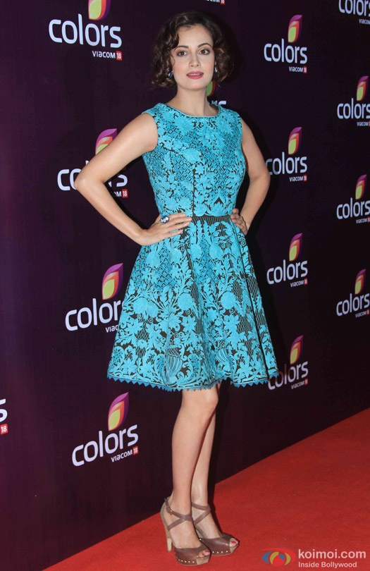 Dia Mirza during the red carpet of Colors Party 2015