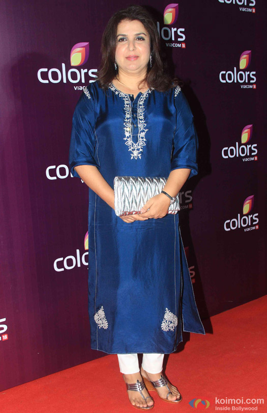 Farah Khan during the red carpet of Colors Party 2015