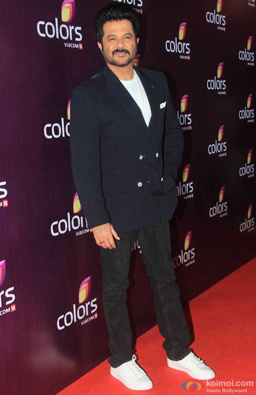 Anil Kapoor during the red carpet of Colors Party 2015