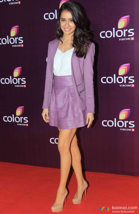 Shraddha Kapoor during the red carpet of Colors Party 2015