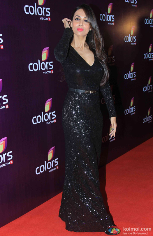 Malaika Arora Khan during the red carpet of Colors Party 2015