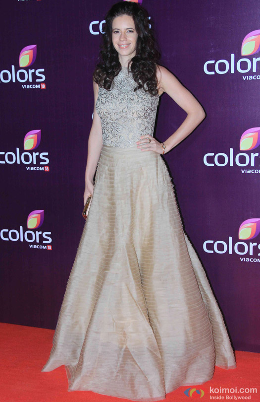 Kalki Koechlin during the red carpet of Colors Party 2015