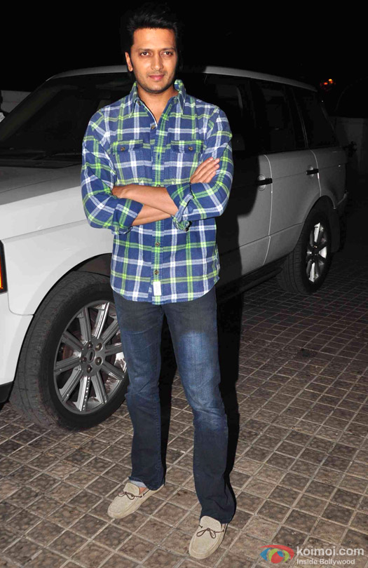 Riteish Deshmukh during the special screening of movie 'Avengers: Age of Ultron'