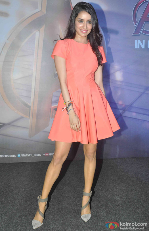 Shraddha Kapoor during the special screening of movie 'Avengers: Age of Ultron'