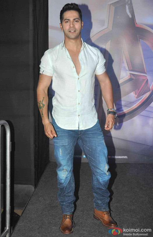 Varun Dhawan during the special screening of movie 'Avengers: Age of Ultron'