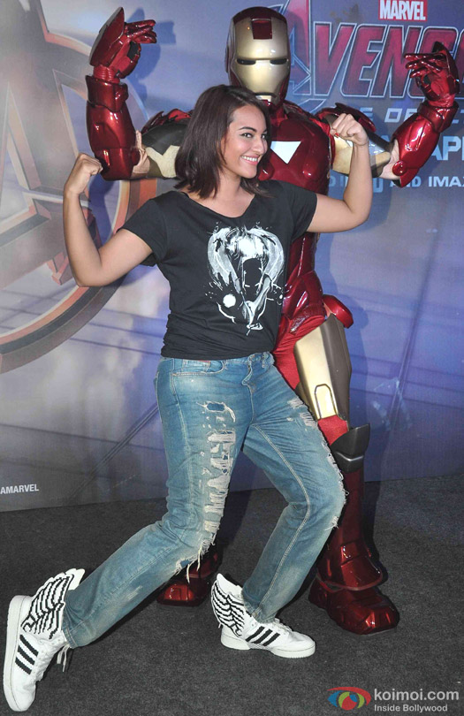 Sonakshi Sinha during the special screening of movie 'Avengers: Age of Ultron'