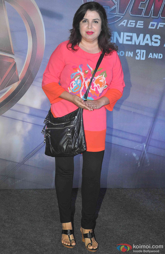 Farah Khan during the special screening of movie 'Avengers: Age of Ultron'