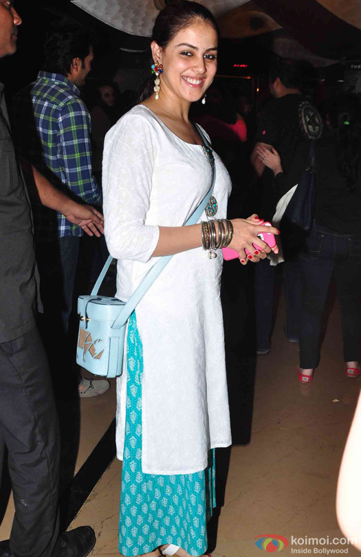 Genelia D'Souza Deshmukh during the special screening of movie 'Avengers: Age of Ultron'
