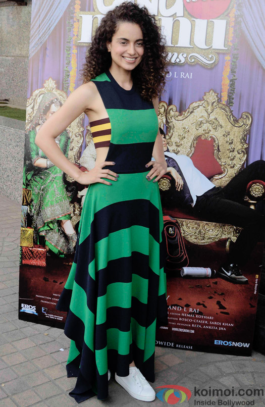 Kanagana Ranaut During The Trailer Launch Of Movie Tanu Weds Manu Returns