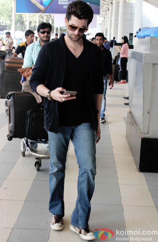 Neil Nitin Mukesh Snapped At Domestic Airport Mumbai