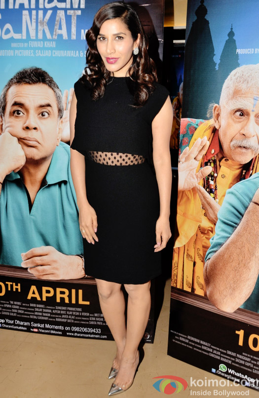 Sophie Choudry at the special screening of movie 'Dharam Sankat Mein'