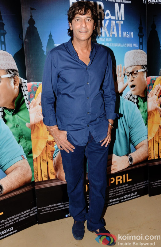 Chunkey Pandey at the special screening of Dharam Sankat  Mein