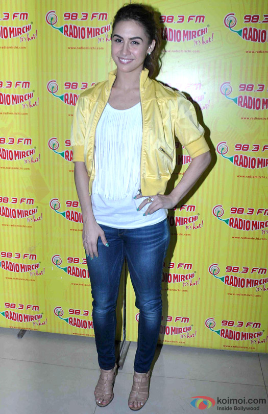 Lauren Gottlieb during the promotion of movie 'Welcome To Karachi' at Radio Mirchi