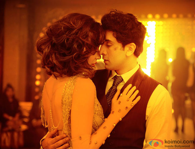 Anushka Sharma and Ranbir Kapoor in a still from movie 'Bombay Velvet'