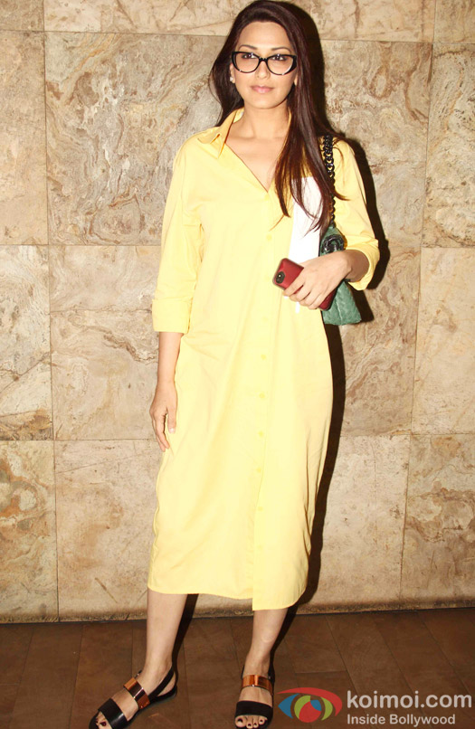 Sonali Bendre during the special screening of Tanu Weds Manu Returns