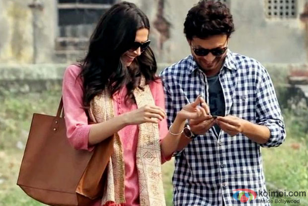 Deepika Padukone and Irrfan Khan in a still from movie 'Piku'
