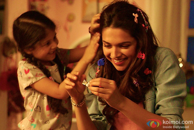 Deepika Padukone in a still from movie 'Piku'