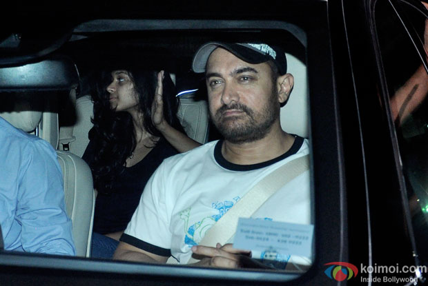 Aamir khan Snapped At Lightbox