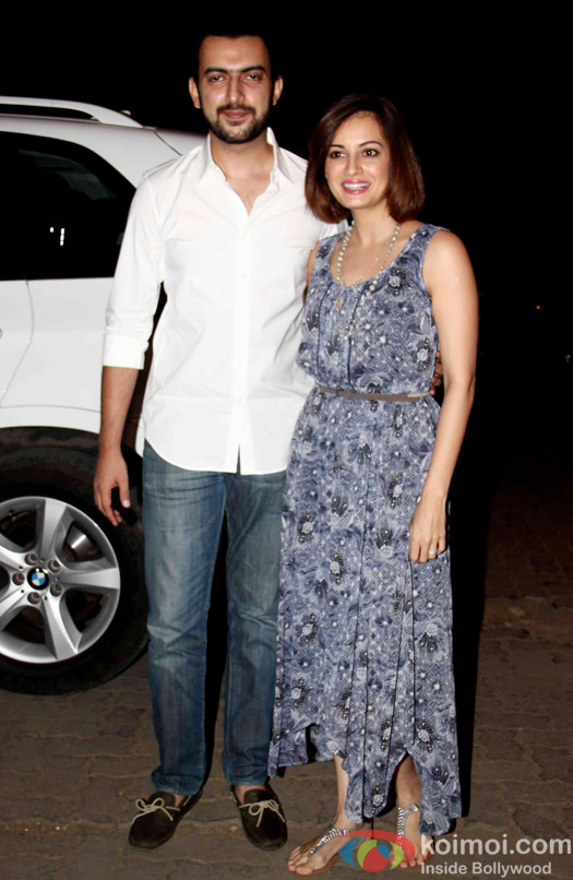 Sahil Sangha and Dia Mirza during the Mukesh Chhabra's Bday Bash