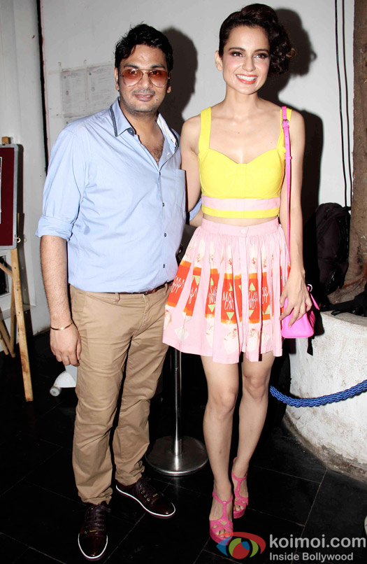 Kangana Ranaut during the Mukesh Chhabra's Bday Bash