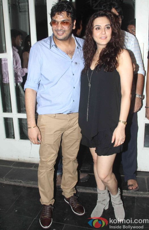 Preity Zinta during the Mukesh Chhabra's Bday Bash