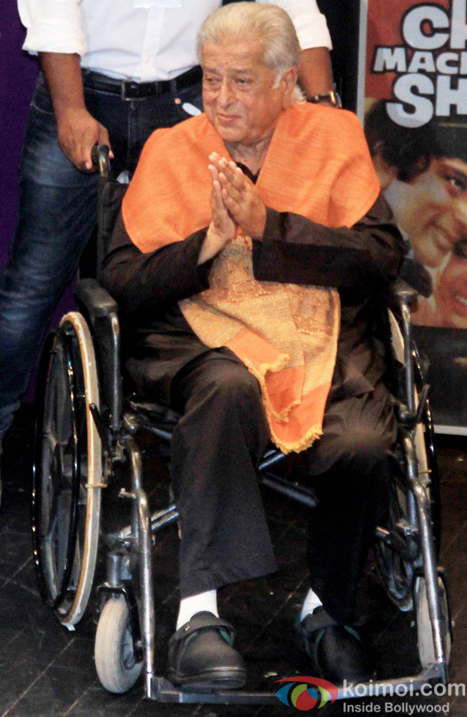 Shashi Kapoor during the receiving Dadasaheb Phalke award