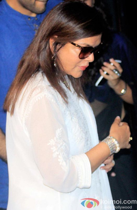 Zeenat Aman during the Shashi Kapoor awarded with Dadasaheb Phalke award