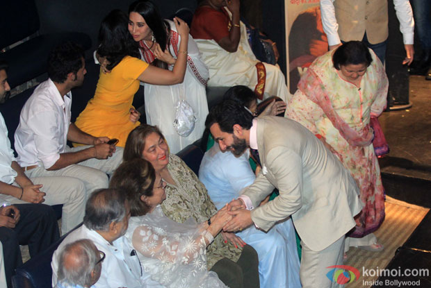 Karishma Kapoor and Saif Ali Khan during the Shashi Kapoor awarded with Dadasaheb Phalke award
