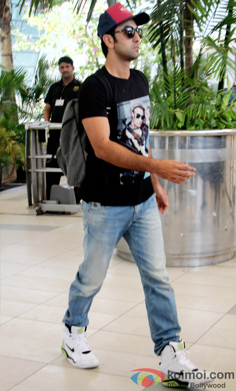 Ranbir Kapoor At Domestic Airport