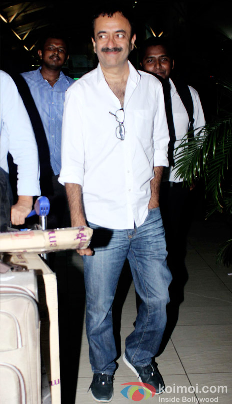 Rajkumar Hirani At Domestic Airport