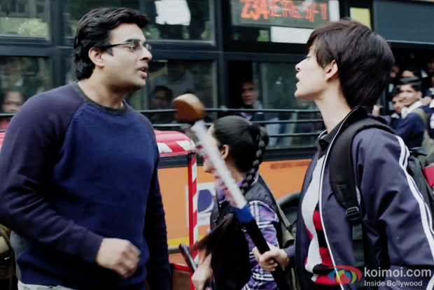 R. Madhavan and Kangana Ranaut in a still from movie 'Tanu Weds Manu Returns'