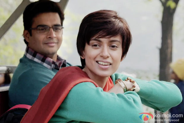 R Madhavan And Kangana Ranaut In A Still From Movie Tanu Weds Manu Returns