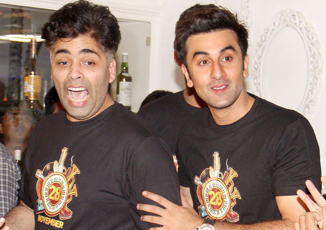 Karan Johar and Ranbir Kapoor