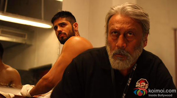 Sidharth Malhotra and Jackie Shroff in a still from movie 'Brothers'