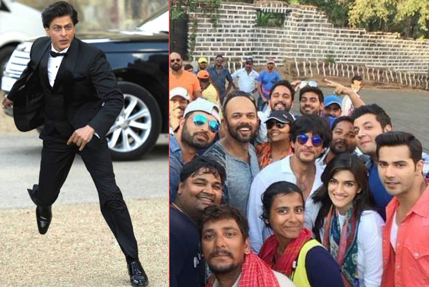 A still from on location of 'Fan' and 'Dilwale'