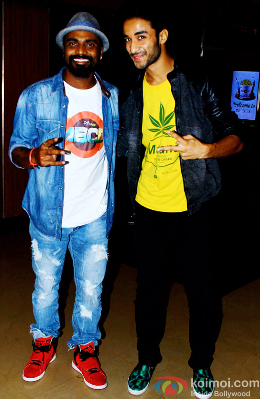 Remo DSouza and Raghav Juyal during the special secreening of movie 'ABCD 2'